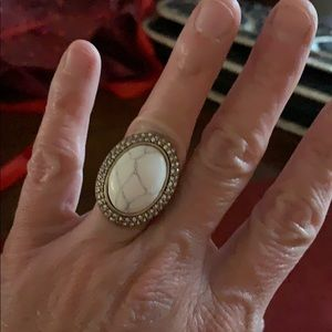 Chloe & Isabel white stone ring
